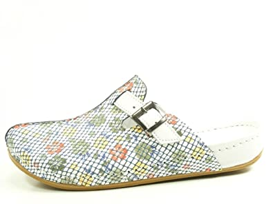 Andrea Conti 0021552 Schuhe Damen Sandalen Clogs Pantoletten, Schuhgröße:37, Farbe:Weiß
