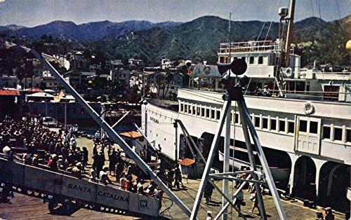 Postcard Passengers Landing at Santa Catalina Island, (Catalina Landing)