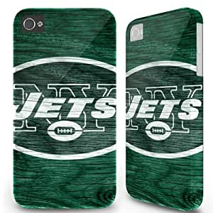 Iphone 4/4s Case Cover Skin - Sports team New York Jets Oldwood Green