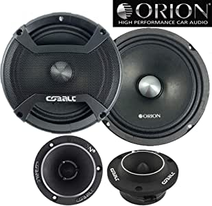 "Orion CM65 6.5"" Midrange Speakers 1000 Watts + Orion CTW1.7HP 3.8"" 300 Watts Tweeter Combo"
