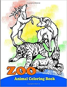 Zoo Animals Coloring Book: Cute Animals: An Adult Coloring ...