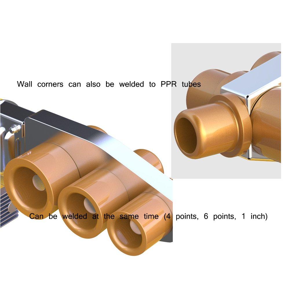MEYOO Soldadora De Tubo 220V 1000W Pantalla Digital Soldador De Tubo De Agua Plástico PE/PPR/PB/PVDF/HDPE/PVC (Kit De Cabezal De Caja 20-63Mm) ...