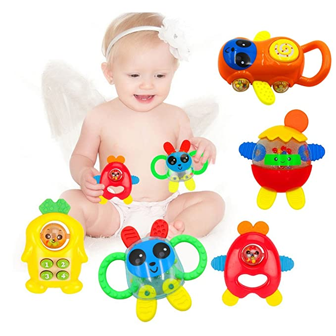 babyprice 5pcs Bebé Mordedor Juguete Set, para bebé infantil y de ...
