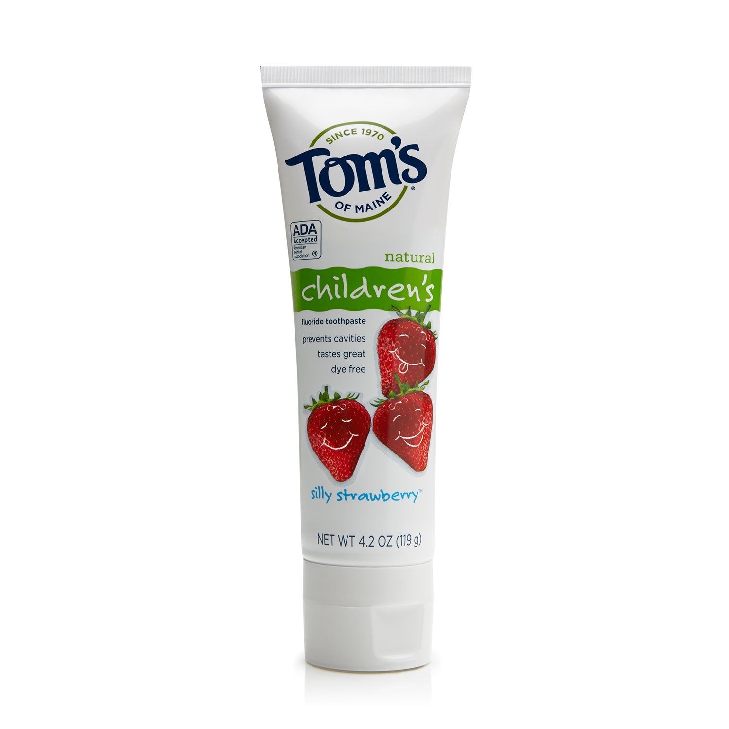 Tom's of Maine Anticavity Children's Toothpaste, Silly Strawberry, 4.2 Ounce (Pack of 6)