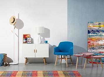 Credenza Moderna Bianca : Credenza moderna legno con tavolino isolato priorità bassa bianca