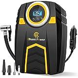 Air Compressor Tire Inflator,12V DC Car Tire Pump with Digital Pressure Gauge, 150PSI with Car Power Adaptor, Auto Shut Off f