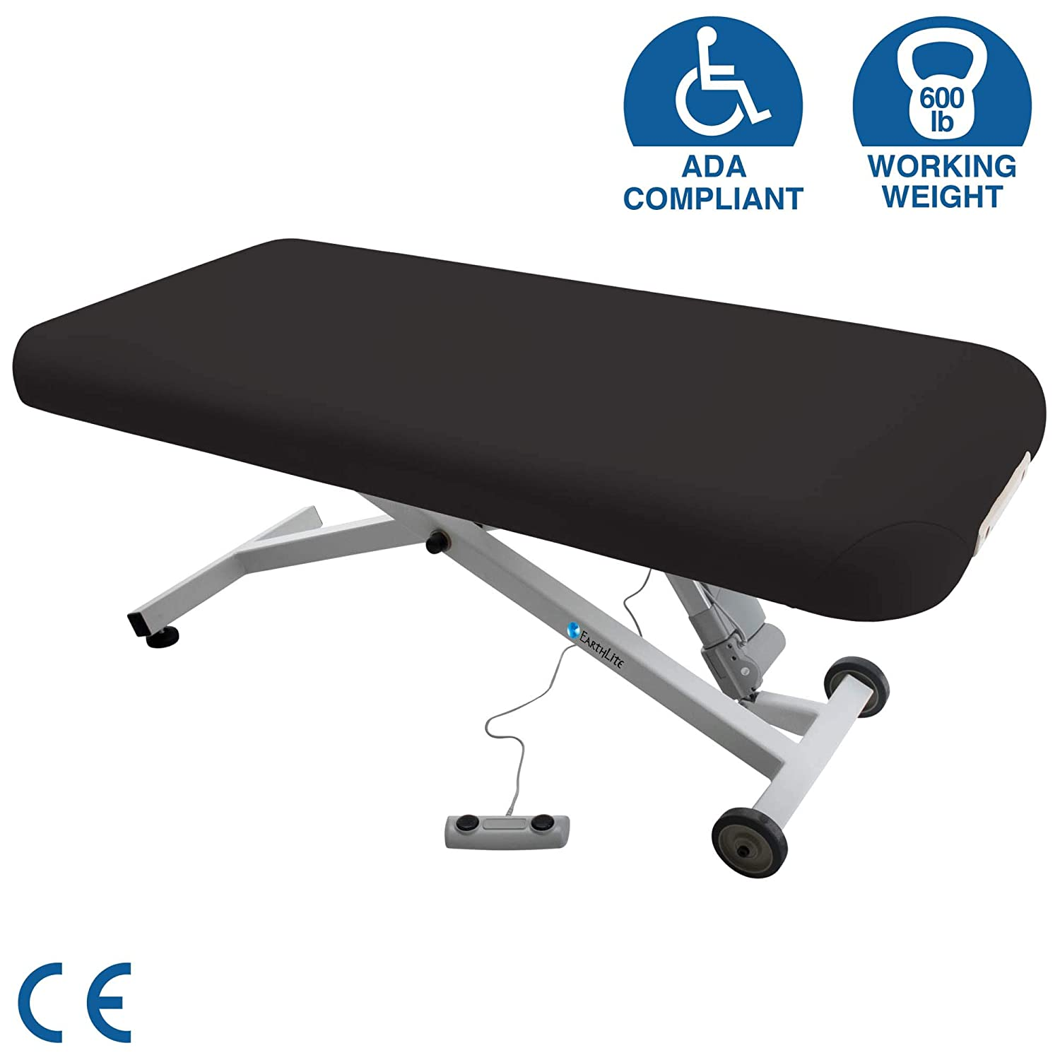 """EARTHLITE Electric Massage Table ELLORA - The Quietest, Most Popular Spa Lift Hydraulic Massage Table - Made in USA/Customer Service in the USA (28"""", ..."""