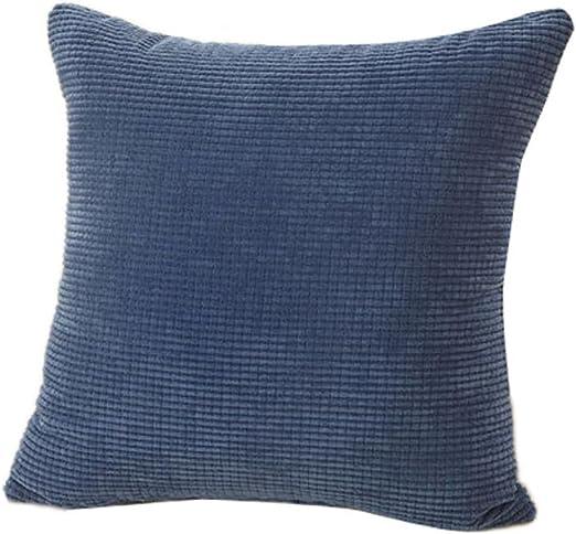 Xinantime Fundas De Cojines, Almohada Decorativa de la Pana de algodón Cojín Multicolor (Azul): Amazon.es: Hogar