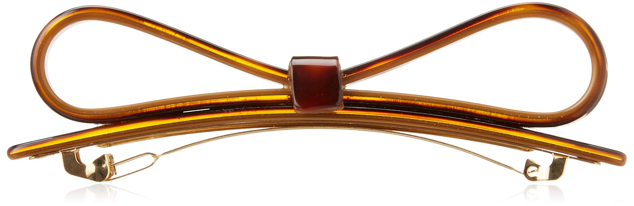 France Luxe Refined Bow Long and Skinny Barrette - Tokyo/Gold
