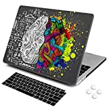 DQQH MacBook Pro 13 inch case,Plastic case & Keyboard Cover,Only Compatible MacBook Newest Pro 13 inch case 2018 2017 2016 ... (MacBook Newest Pro 13' A1706/A1989/A1708/A2159, Black Brain)