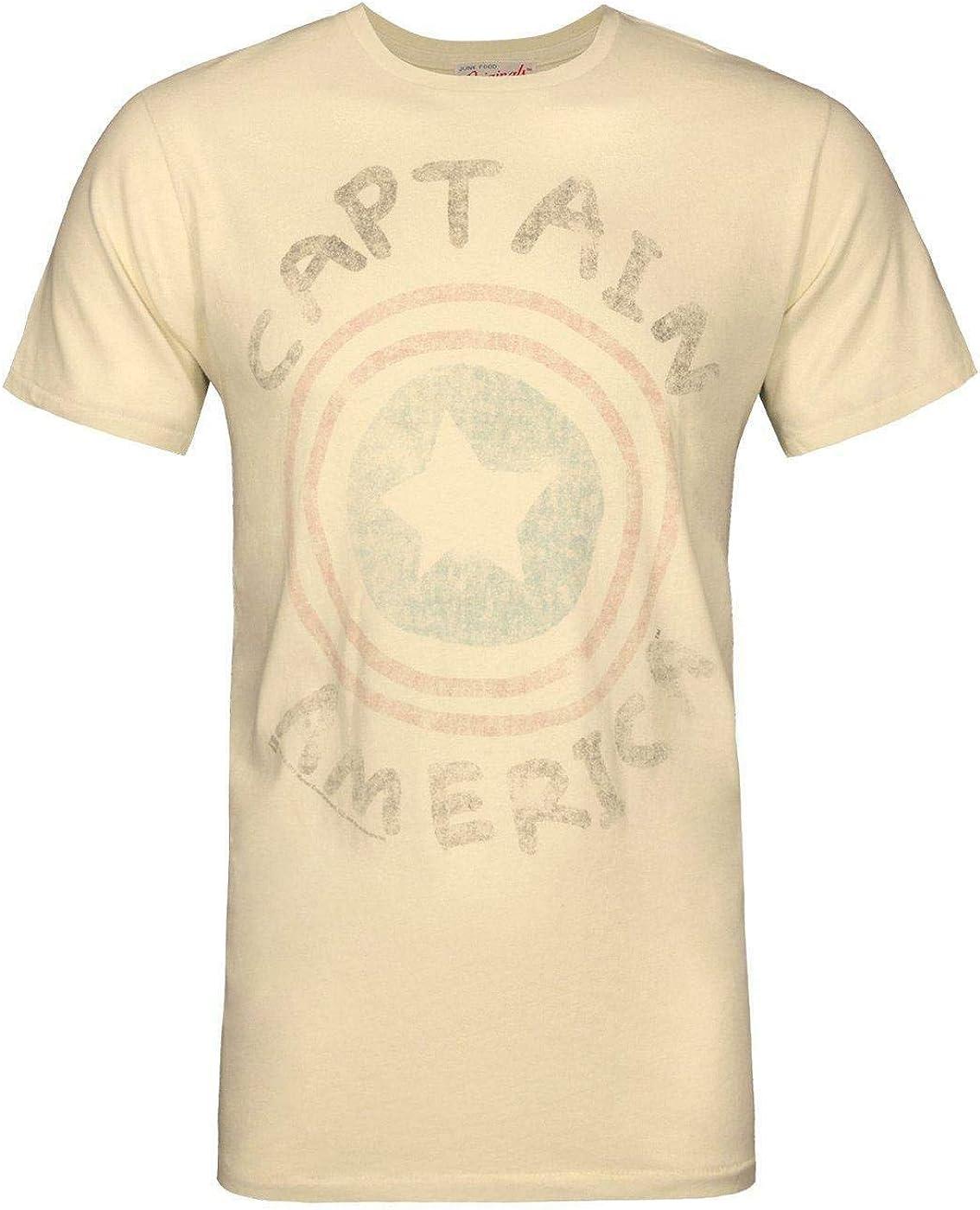 Junk Food Originals Captain America Logo Men's T-Shirt