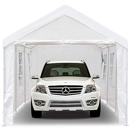 Amazon Com Peaktop 20 X10 Heavy Duty Portable Carport Garage Car