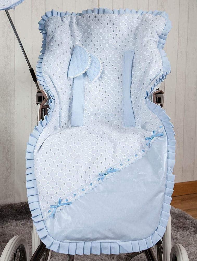 Babyline Love color azul Colchoneta ligera para silla de paseo