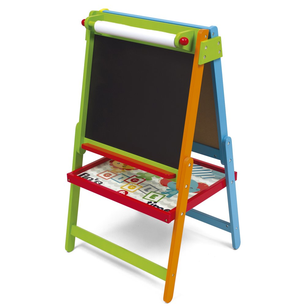 Fisher Price Double Sided Art Easel Chalkboard Magnetic Childrens Kids Drawing White Board Alphabet Letters Numbers Accessories Creative Learning Educational Activity Toy Artist Set