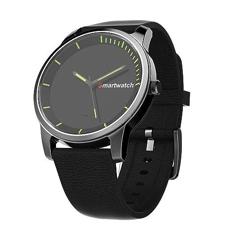 Asiright S-68 - Reloj de pulsera inteligente de cuarzo con podómetro, resistente al
