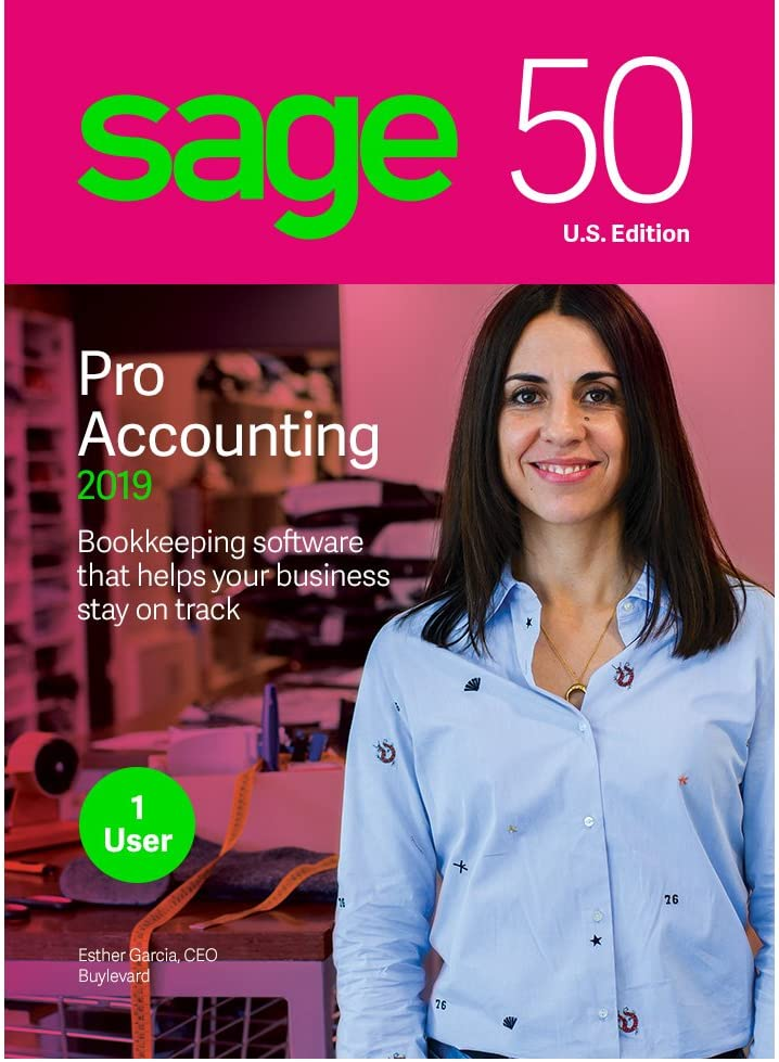 Sage 50 Pro Accounting 2019 – Essentials Accounting for Business – Desktop Software – Organize Finances – Manage Cash Flow & Costs – Easy Integration with Microsoft Productivity Tools – Safe & Secure