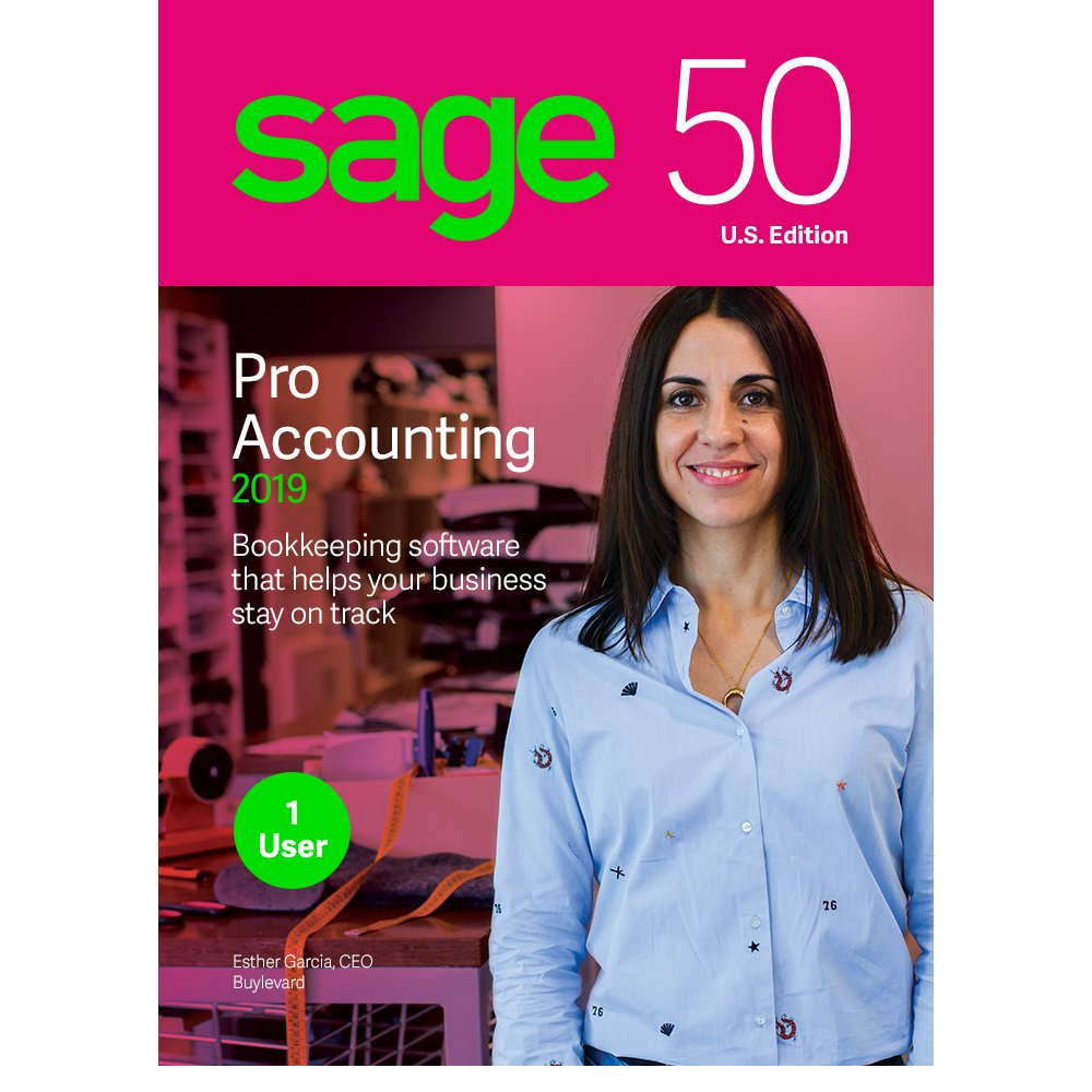 Sage 50 Pro Accounting 2019 - Essentials Accounting for Business - Desktop Software - Organize Finances - Manage Cash Flow & Costs - Easy Integration with Microsoft Productivity Tools - Safe & Secure by Sage Software