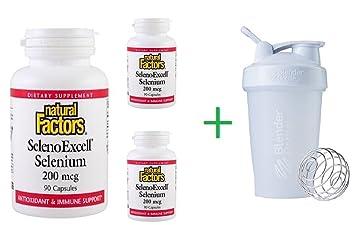 Amazon com : Natural Factors, SelenoExcell, Selenium, 200 mcg, 90