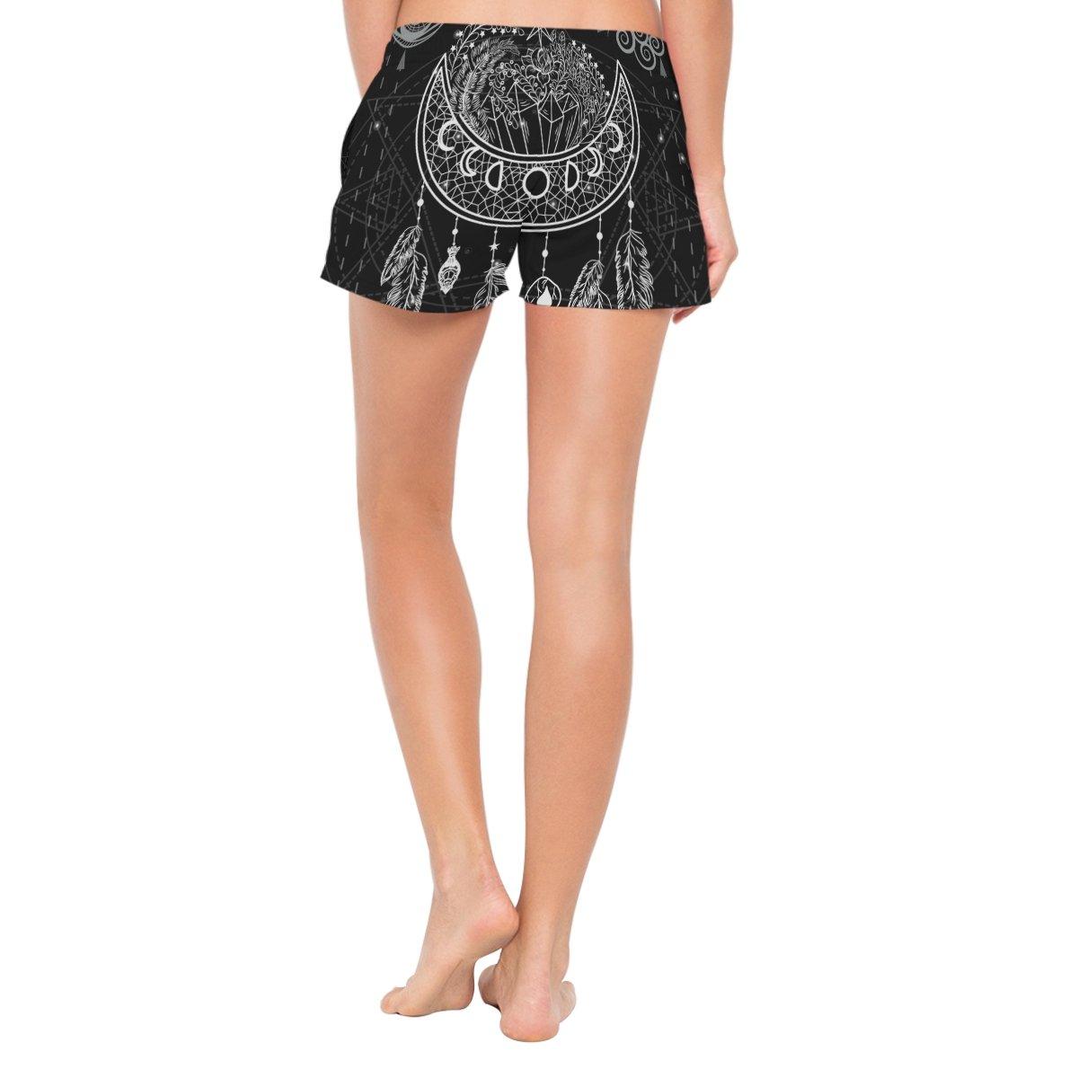 Cooper girl ALAZA Beautiful Dreamcatcher Womens Shorts Beach Summer Drawstring Casual Shorts