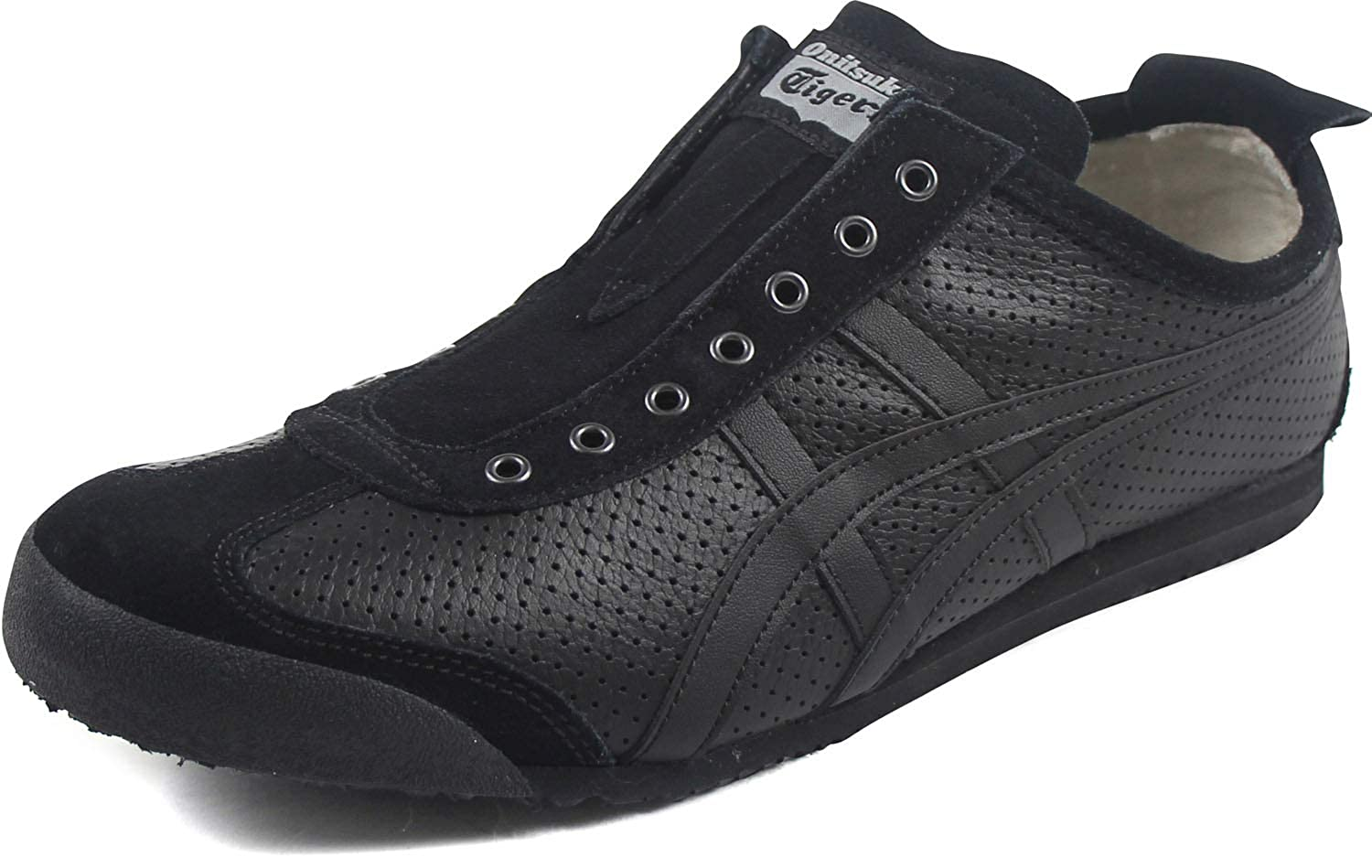 best sneakers ef366 44849 Onitsuka Tiger by Asics Unisex Mexico 66 Slip-On Black/Black ...