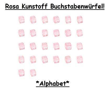 10 pieza Color Rosa Plástico Letra - A Elegir de dados 10 mm ...