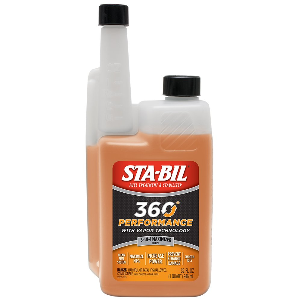 2. STA-BIL 22275 360 Performance with Vapor Technology, Fuel Treatment, and Stabilizer, 32 Fl. Oz