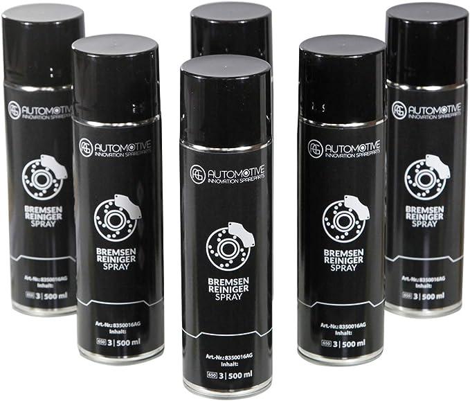 Ag Automotive Bremsenreiniger Teilereiniger Intensiv Sprühdose Acetonfrei Spraydose 6x500ml Auto