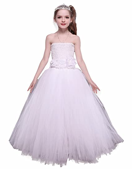 Amazon tutu dreams flower girl tutu dresses clothing tutu dreams flower girl tutu dresses 2 white mightylinksfo