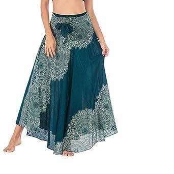 Sunnywill Falda Larga para Mujer, Falda India para Mujer, Falda ...