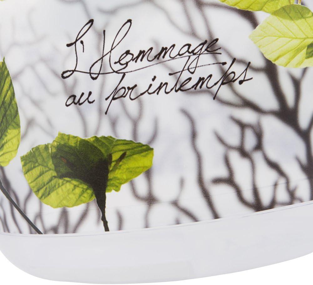 Transparent 10 l Motif Fleuri keeeper Seau avec Graduation Int/égr/ée et Poign/ée Ergonomique Ilvie Red Lotus
