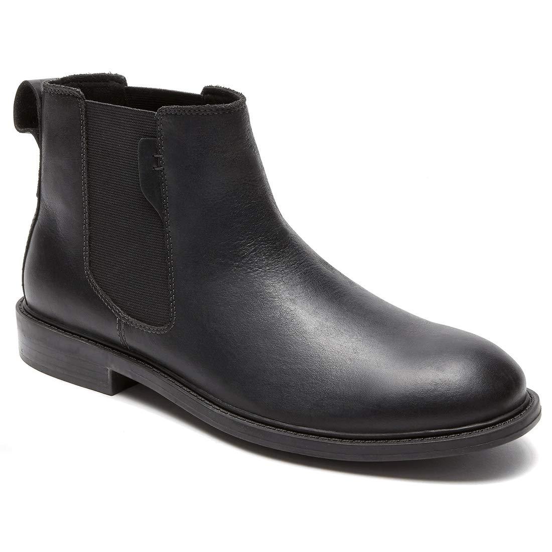 Dunham Men's Graham-Dun Chelsea Boot, Black, 10.5 D US