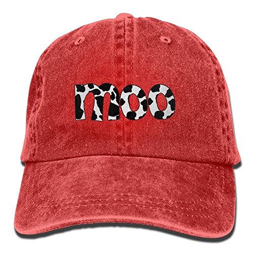 Cow Moo Little (Arsmt Cow Moo Denim Hat Adjustable Female Plain Baseball Hats)