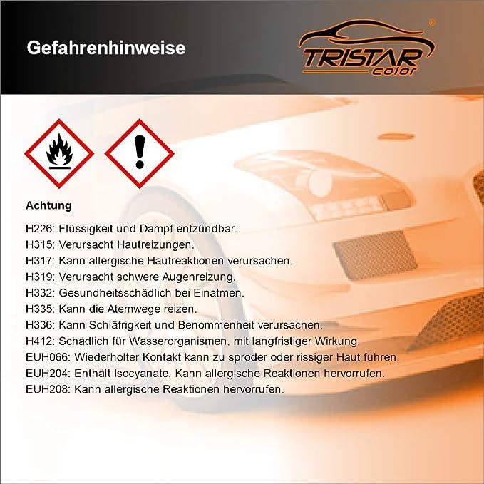 Tristarcolor Autolack Set Dose Spritzfertig Für Opel Z163 Lichtsilber Metallic Silver Light Metallic Basislack 2k Klarlack 1 25l Auto