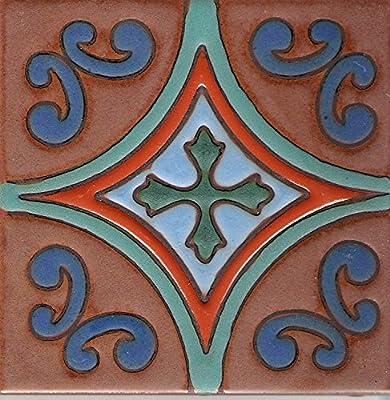 """CERAMIC CONCEPTS Carmel C Tile, 6"""" L x 6"""" W"""