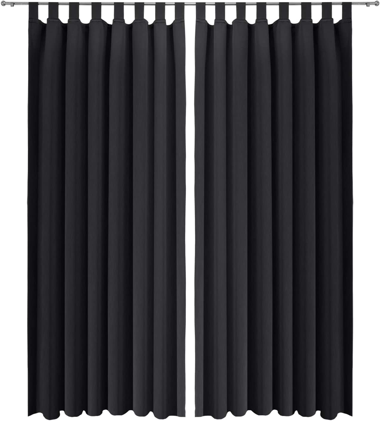 con Passanti Verde Oscurante per balconi e finestre 2 unit/à da 140x245 cm Beautissu Tende oscuranti Amelie BS