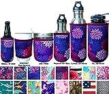 Koverz Neoprene 24-30 oz Water Bottle Insulator Cooler Coolie - Midnight Mums