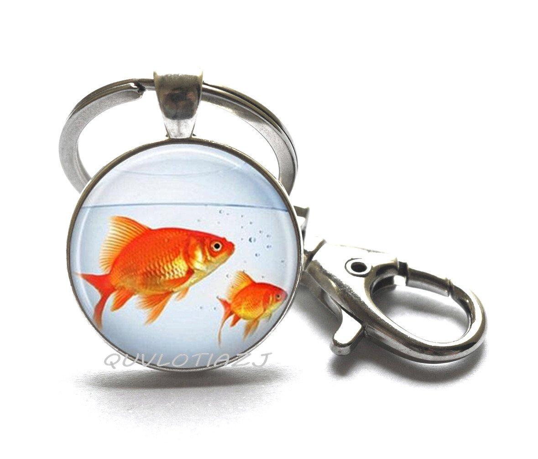 Amazon.com: Pescado llavero, tazón para peces, pescado joyas ...