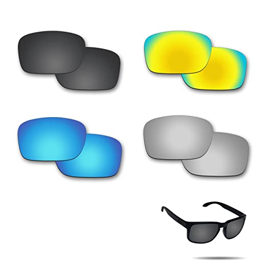 295c253cce6c5 Amazon.com  Fiskr Anti-saltwater Replacement Lenses for Oakley Holbrook  Sunglasses 4 Pairs Pack  Clothing