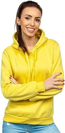 BOLF Mujer Sudadera Cerrada con Capucha Básica Pulóver de Algodón Jersey Blusa Suéter Hoodie Canguro Entrenamiento Fitness Sport Outdoor Estilo Deportivo A1A