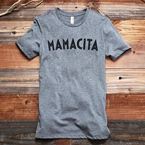 (Thread Tank Mamacita Women's Fashion Relaxed T-Shirt Tee Heather Grey)