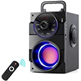 TAMPROAD Portable Bluetooth Speakers with Subwoofer Rich Bass Wireless Outdoor/Indoor Party Speakers MP3 Player Powerful Spea