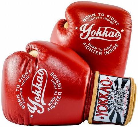 Yokkao Boxing ボクシンググローブ Vintage 赤/Yokkao ヨッカオ ブルテリア Bull Terrier ボクシンググローブ 本革仕様 ムエタイ キックボクシング ムエタイ本場タイのブランド  16oz