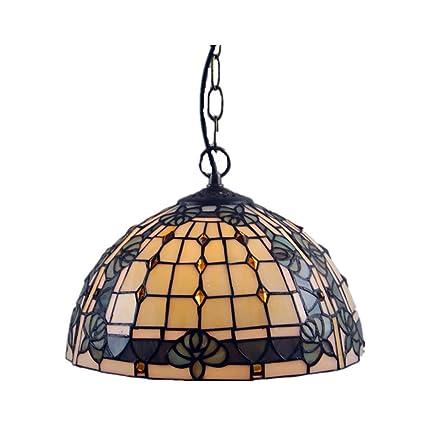 ZIXUAA Estilo de Tiffany lámpara de araña de Cristal ...