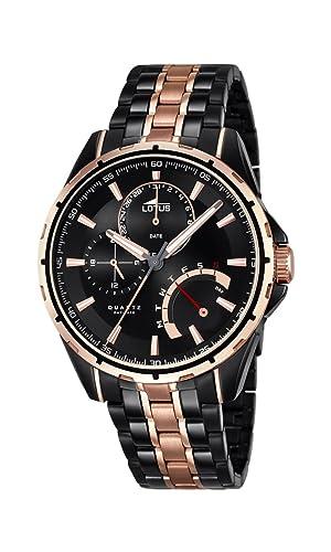 Lotus 18207/1 - Reloj de pulsera Hombre de acero inoxidable chapado bicolor: Lotus: Amazon.es: Relojes