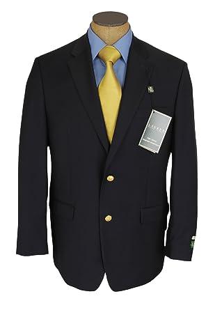 Ralph Lauren Mens 2 Button Navy Blue Wool Blazer Sport Coat Jacket - Size  48L f5b88fd8600b