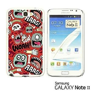 OnlineBestDigital? - Funny Pattern Hardback Case for Samsung Galaxy Note 2 - WOAH hjbrhga1544