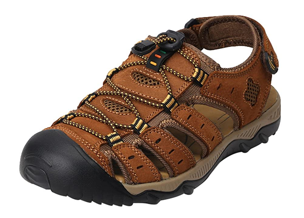 0d858b531288 Wentsven Men Sandles Fisherman Closed Toe Beach Hiking Sandals   Amazon.co.uk  Shoes   Bags