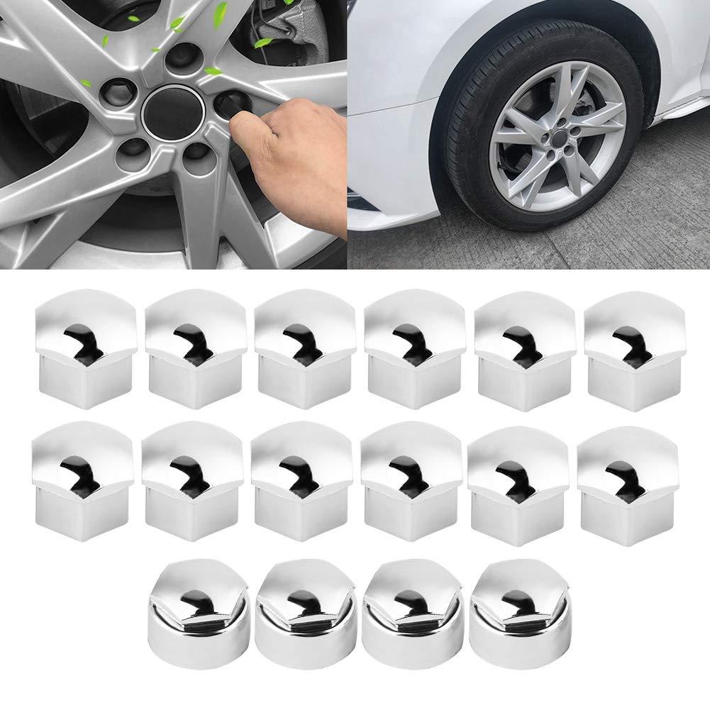Wheel Nut Rim Cover,20pcs 17mm Nut Car Wheel Auto Hub Screw Protection Anti-theft Cover Cap Black