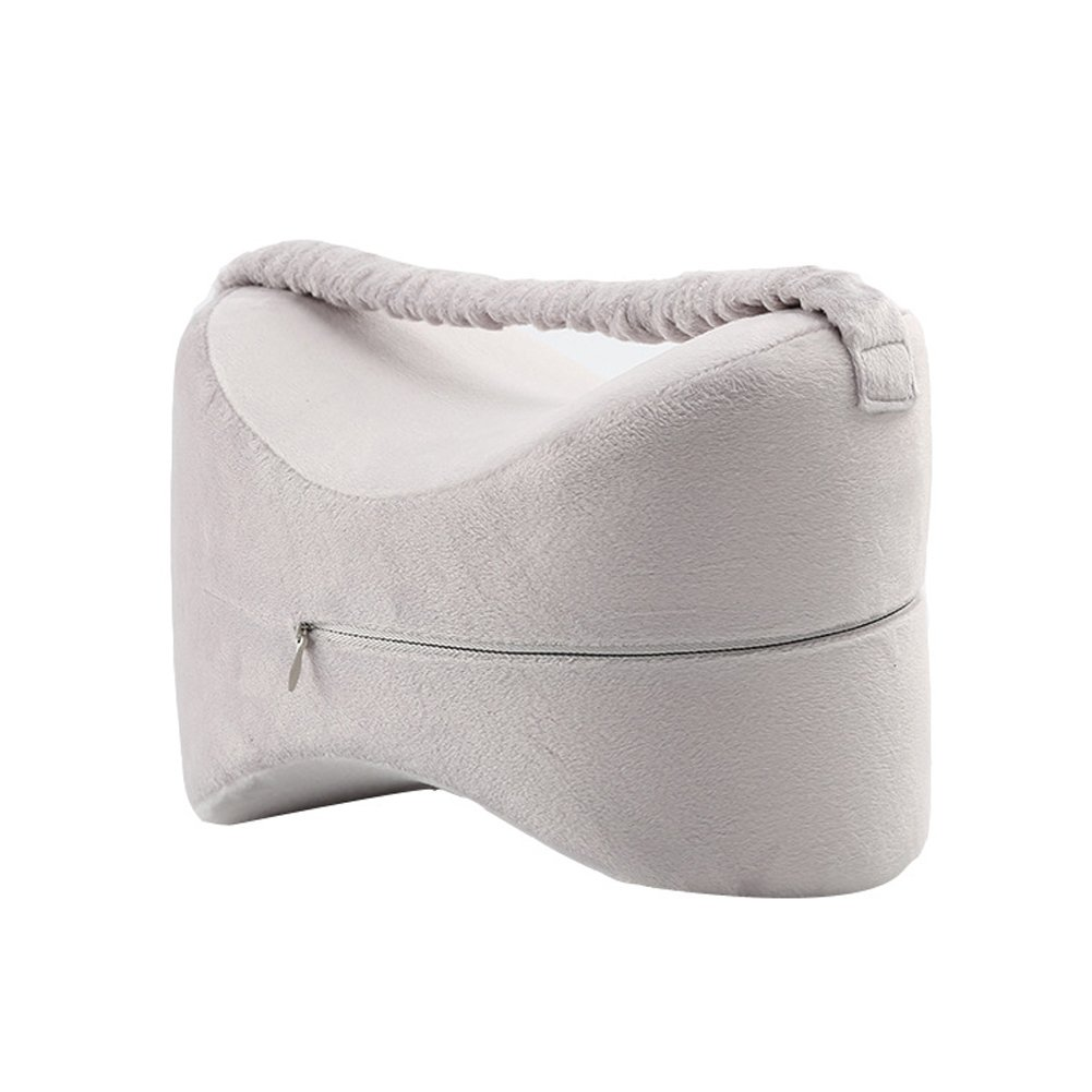 Knee Pillow with Elastic Band for Sciatica Relief, Back Pain, Leg Pain, Pregnancy, Hip and Joint Pain, Memory Foam Wedge Contour Orthopedic Knee Pillow DinQ