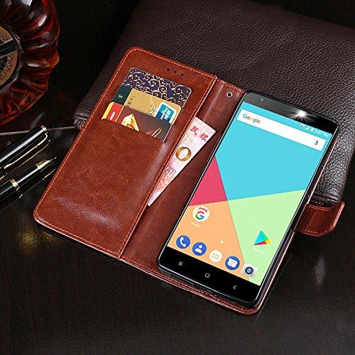 Ulefone S7 Funda Faux Cuero Billetera Funda para Ulefone S7 con Stand Función(Negro) Rosa roja